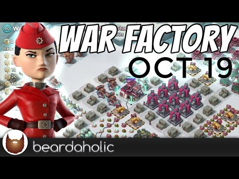 Boom Beach Gearheart War Factory Unboosted Gameplay Smooka Walkthrough for Oct 19, 2017