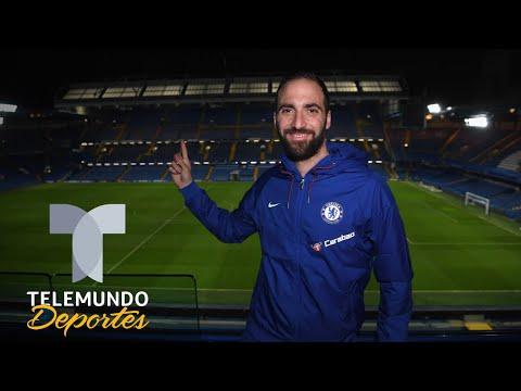 Espectacular bienvenida del Chelsea a Gonzalo Higuaín | Premier League | Telemundo Deportes