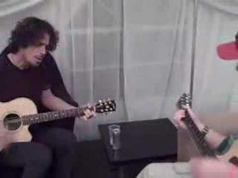 Chris Cornell and Superfan Gareth Playing