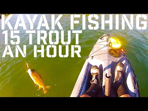Intense Fish: Kayak Fishing 15 Cutthroat Trout in a Hour from a Mountain Lake