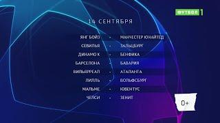 Лига чемпионов. Обзор матчей от 14.09.2021