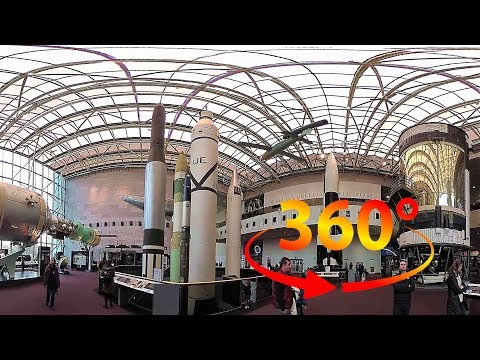 360 / VR 4K Tour of The National Air & Space Museum w/ Spatial Audio - Washington DC, USA - Part 3