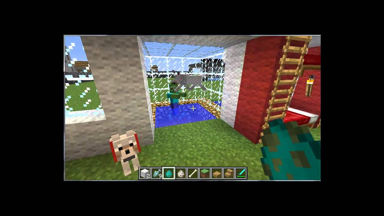 minecraft wie macht man eine hund und eine katze youtube. Black Bedroom Furniture Sets. Home Design Ideas