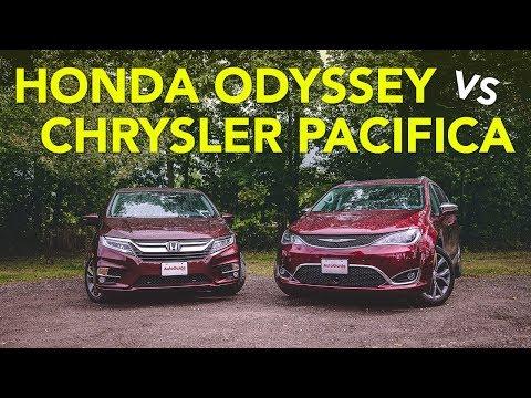 2018 Honda Odyssey vs 2017 Chrysler Pacifica