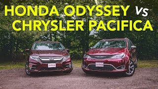 2018 Honda Odyssey vs 2017 Chrysler Pacifica