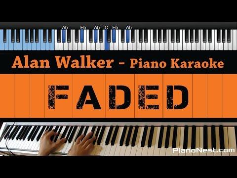 Alan Walker - Faded - LOWER Key (Piano Karaoke / Sing Along)