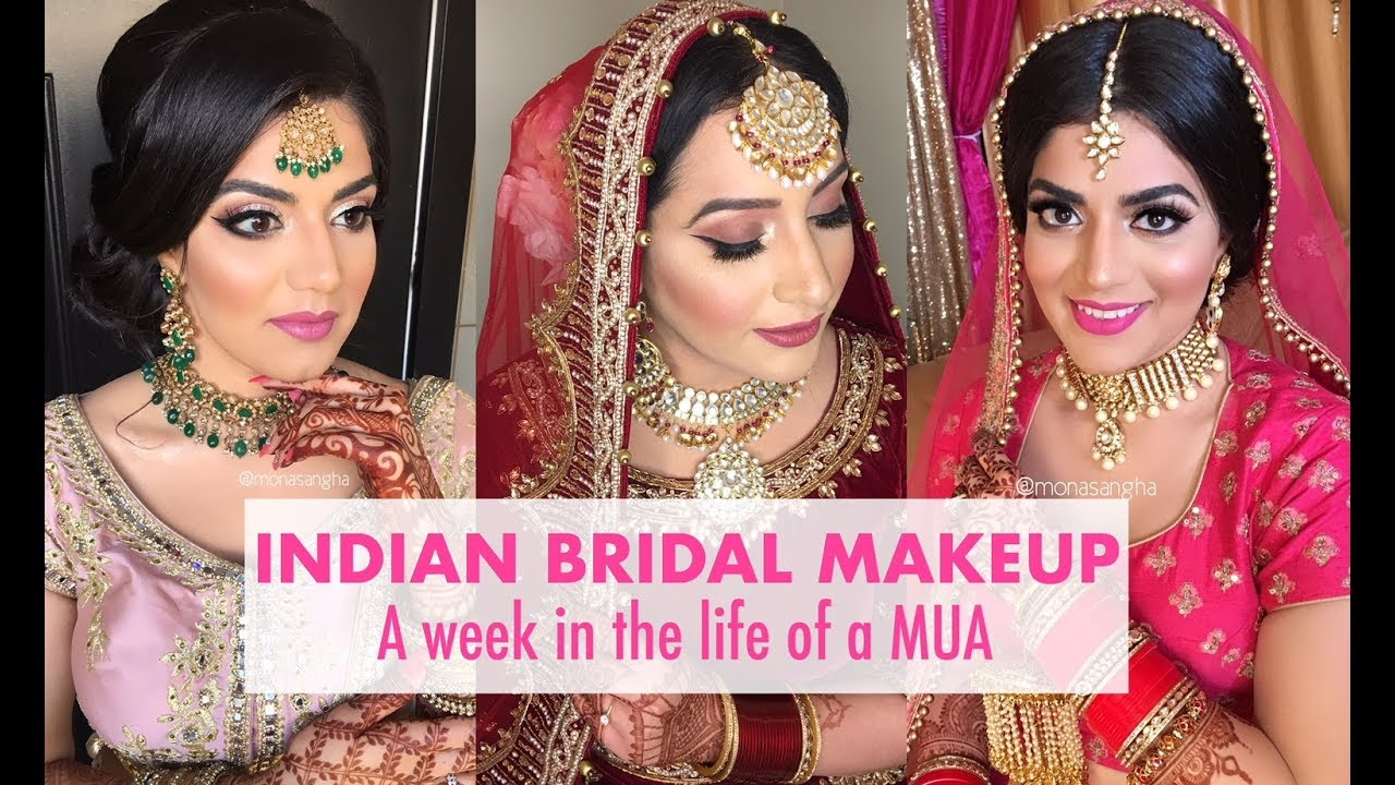 VLOG | INDIAN BRIDAL MAKEUP | keepingupwithmona