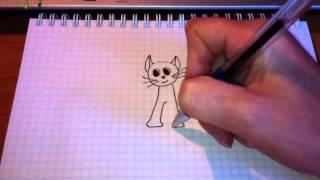 Простые рисунки #12. Котенок.(Как нарисовать простой рисунок обычной гелевой ручкой за несколько минут. Спасибо, что смотрите мои видео...., 2013-05-19T15:16:17.000Z)