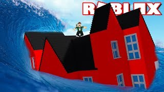 SURVIVE THE TSUNAMI IN ROBLOX