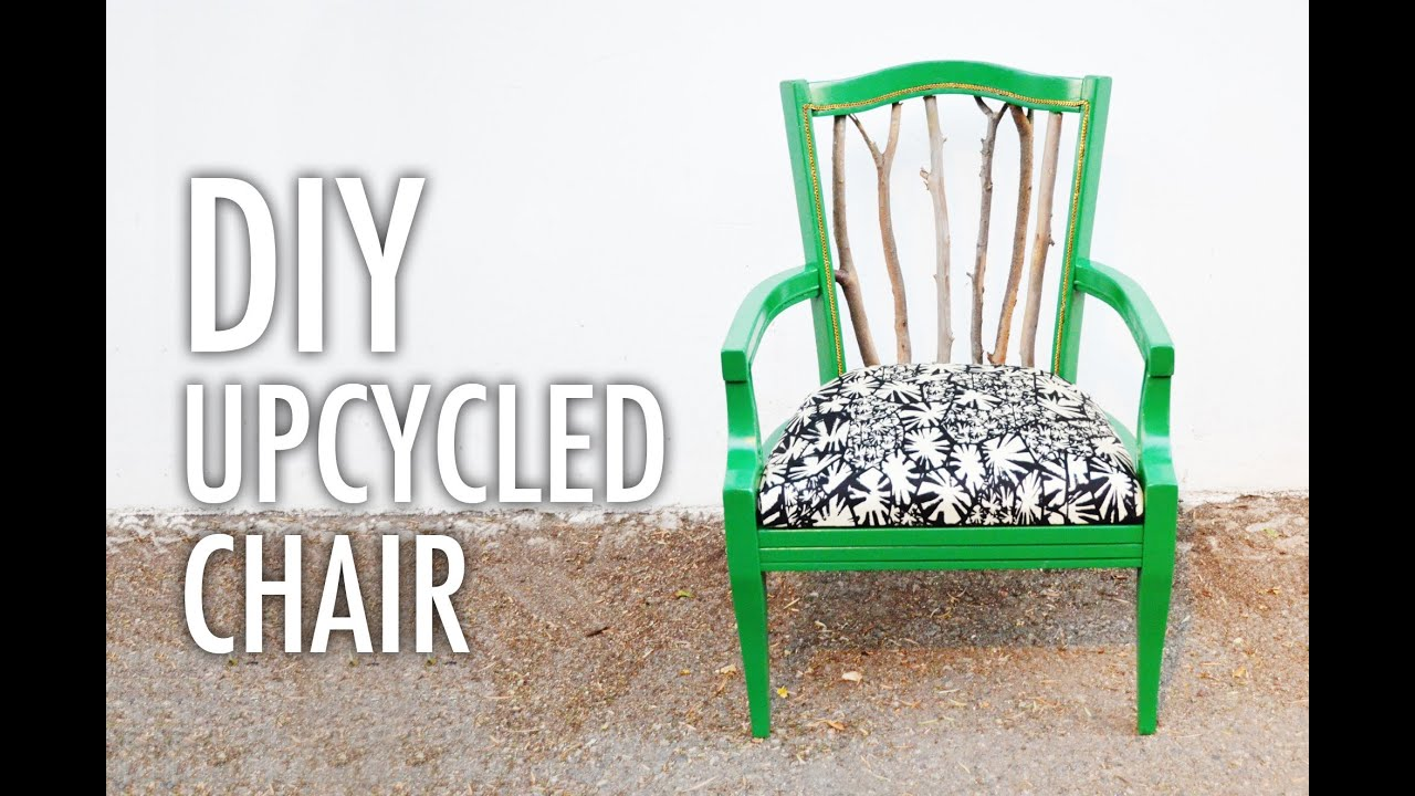 Delightful Trash To Treasure Part - 14: DIY Trash To Treasure Statement Chair With Mr. Kate - YouTube