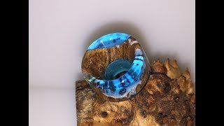 Blue resin and stabilised wood 810 drip tip