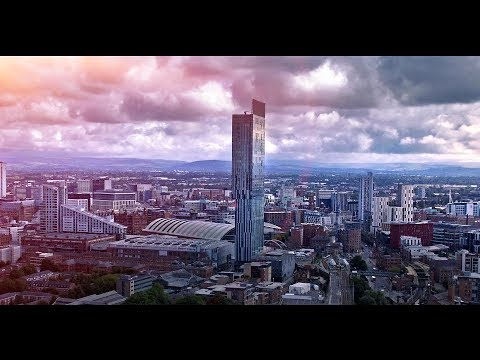 MANCHESTER Drone Footage City SKYLINE /Beetham Tower /Hilton Hotel /Owen Street skyscrapers
