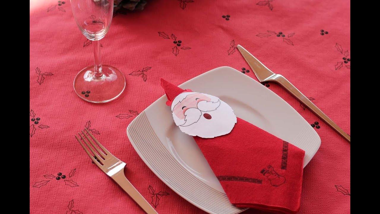 Como doblar servilletas de papel para navidad youtube - Decoracion mesa de navidad ...