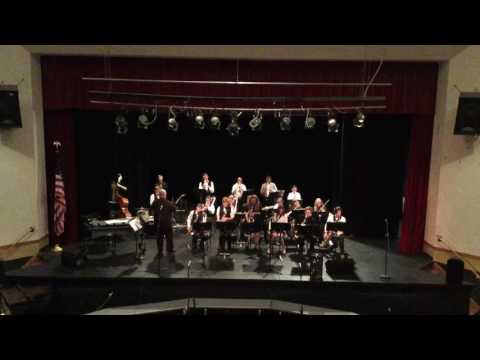 """Moscow Middle School Jazz Band performs """"Ready to Mango"""" (Lopez) Feb. 21, 2017."""