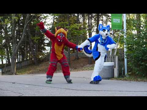 Fursuit Rollerblading