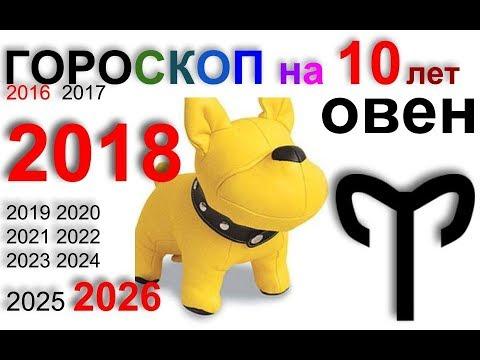ОВЕН 2018, 2016-2026 гороскоп на 10 лет