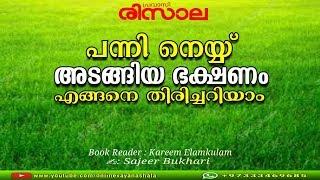 പന്നി നെയ്യ് അടങ്ങിയ ഭക്ഷണം  എങ്ങനെ തിരിച്ചറിയാം.? |✍:Sajeer Bukhari |Book Reader: Kareem Elamkulam