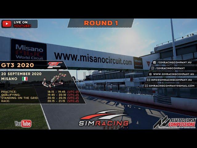 Sim Racing Company - GT3 2020 Round 1: Misano