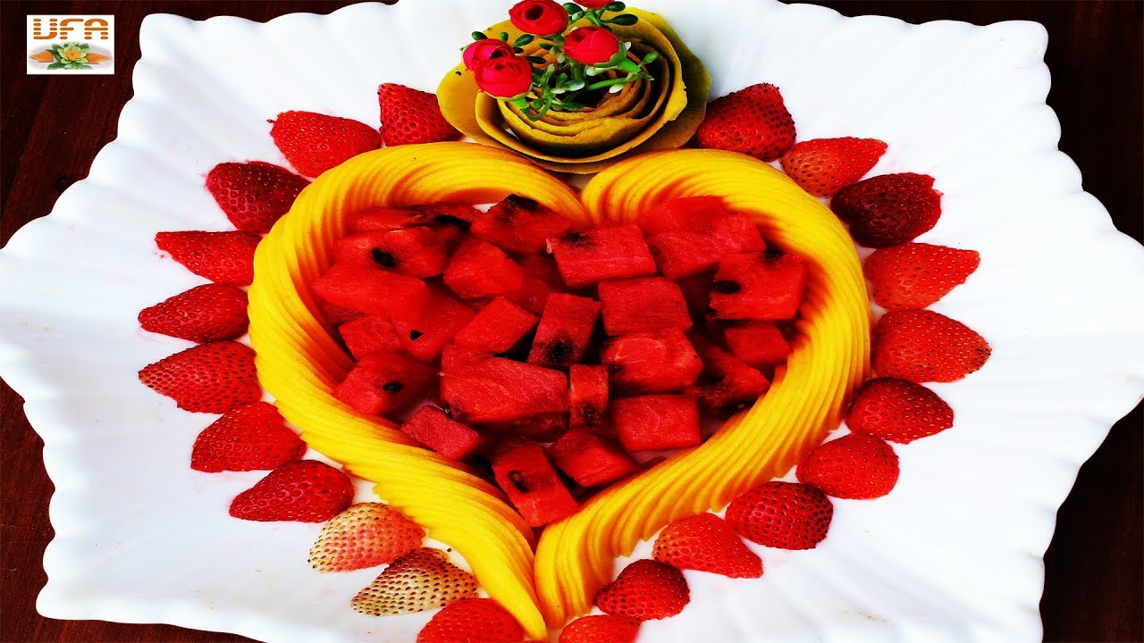 Lovely Fruits Plate Decoration Arrangement How To Cut Slice
