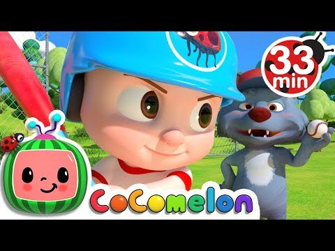 Take Me Out to the Ball Game | +More Nursery Rhymes & Kids Songs - ABCkidTV