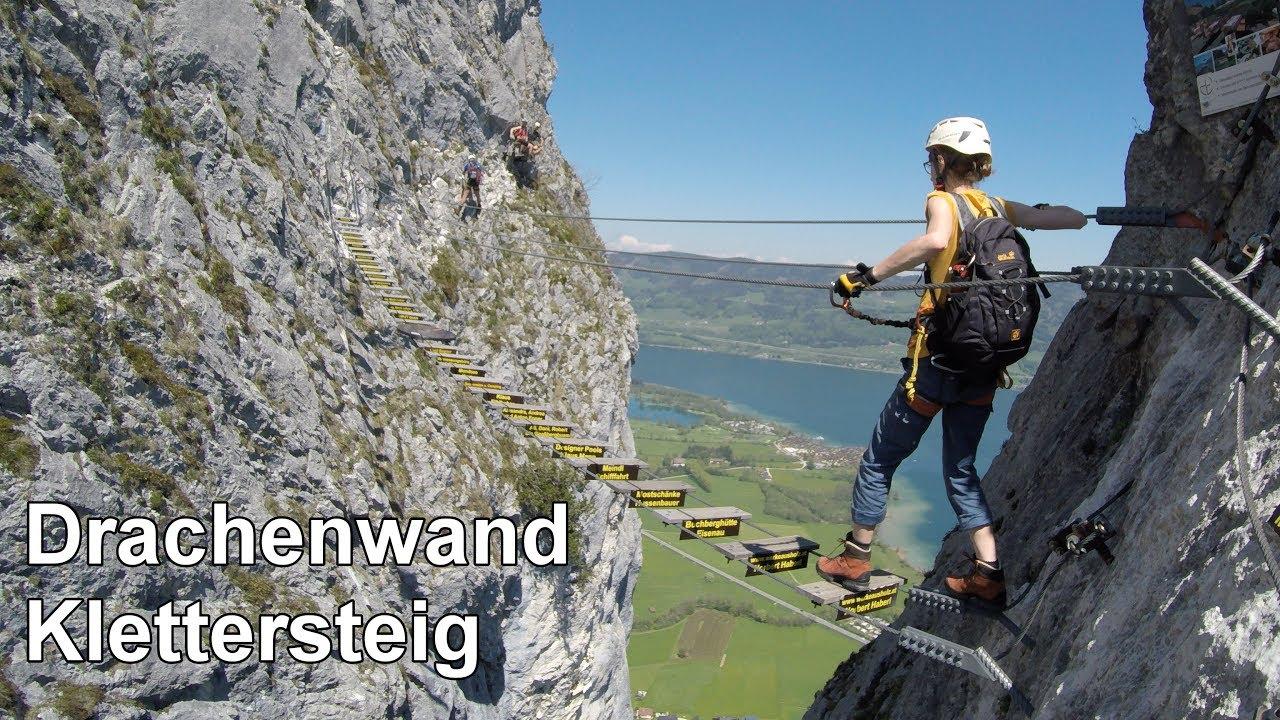 Klettersteig Drachenwand : Drachenwand klettersteig in st lorenz am mondsee youtube