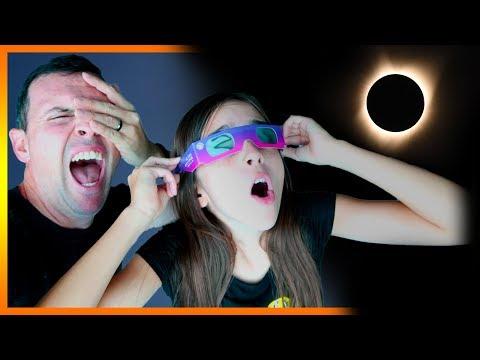 (WARNING) SOLAR ECLIPSE CAUGHT ON VIDEO!!