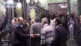 بالفيديو : وزير الثقافة والرياضة والاتصالات والكهرباء فى عزاء الفقيه الدستوري يحيى الجمل