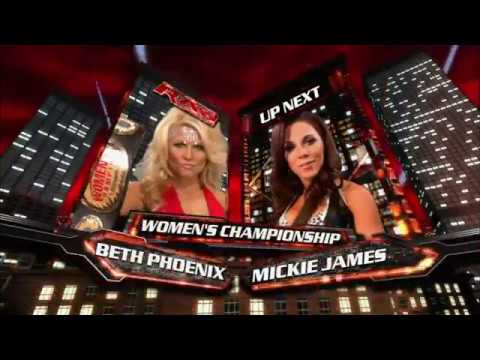 Download WWE RAW 14/04/2008│Women's Championship│Beth Phoenix vs  Mickie James