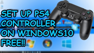 How to Connect PS4 Controller to Windows 10, 8.1 OR 7 PC - 2017 (Easiest Way)