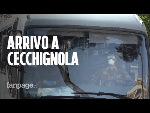 Coronavirus, l'arrivo a Cecchignola degli italiani provenienti da Wuhan
