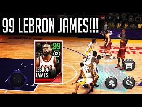 99 OVR ROYALTY LEBRON JAMES GAMEPLAY ON NBA LIVE MOBILE 18!!!