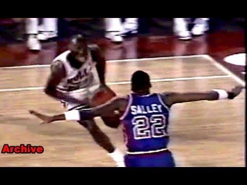 Michael Jordan Sick 3-Point Play on John Salley! MJ OMG Moment!