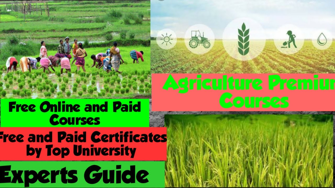 free online courses with certificates in agriculture