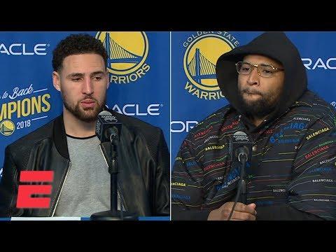 Klay Thompson says DeMarcus Cousins' dunk on Kyle Kuzma was huge for Warriors | NBA Sound