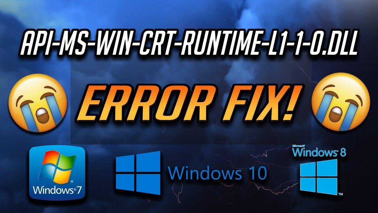 Fix api-ms-win-crt-runtime-l1-1-0.dll is Missing Error [2020]