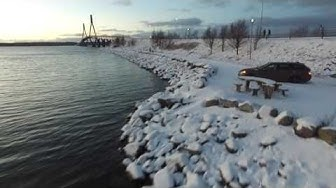 Replot bridge at Mustasaari Finland with DJI Phantom 3 4K