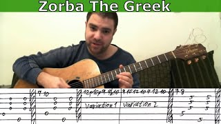 Tutorial: Zorba the Greek - Fingerstyle Guitar w/ TAB