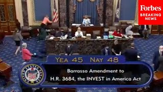JUST IN: GOP Senator's Amendment Regarding Natural Gas Prohibitions In Infrastructure Bill Fails