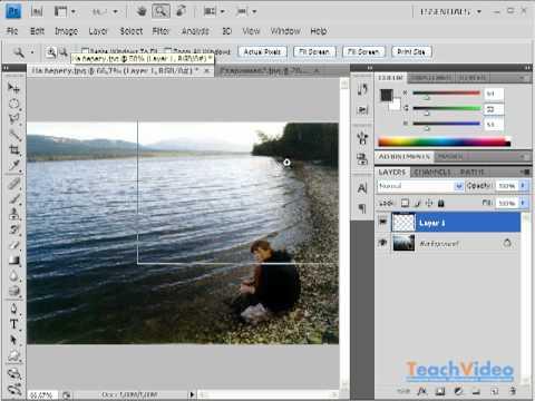 Размытое изображение (эффект привидения) в Photoshop