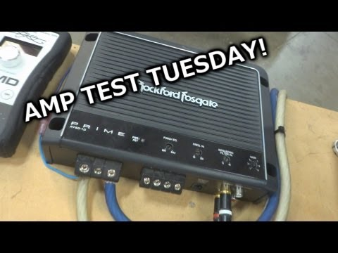 Amp Test Tuesday - Rockford Fosgate Prime 750 1 - RF's