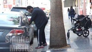 White Guy VS Black Guy Breaking Into A Car - Racist Prank