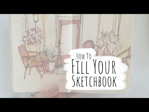 How to Fill Your Sketchbook / Sketchbook Ideas 01 - YouTube