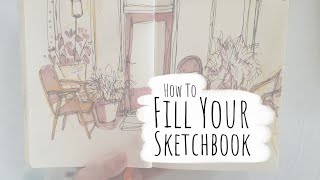 How to Fill Your Sketchbook / Sketchbook Ideas 01
