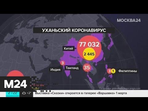 Число зараженных коронавирусом за пределами Китая превысило 1400 человек - Москва 24