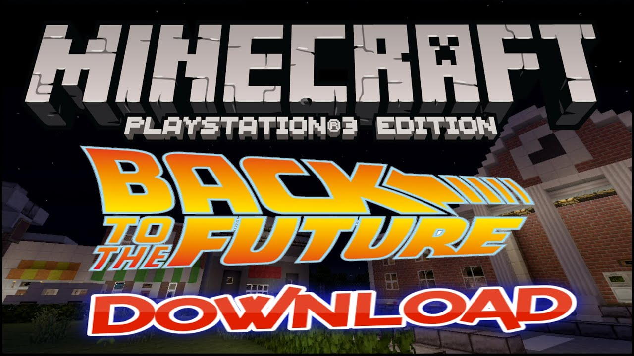 BACK 2 THE FUTURE ADVENTURE MAP BY TRICKLIFE101 MINECRAFT PS3 PS4 EU