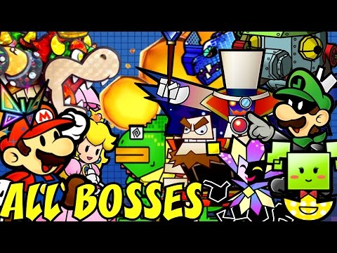 Super Paper Mario - All Bosses (No Damage)