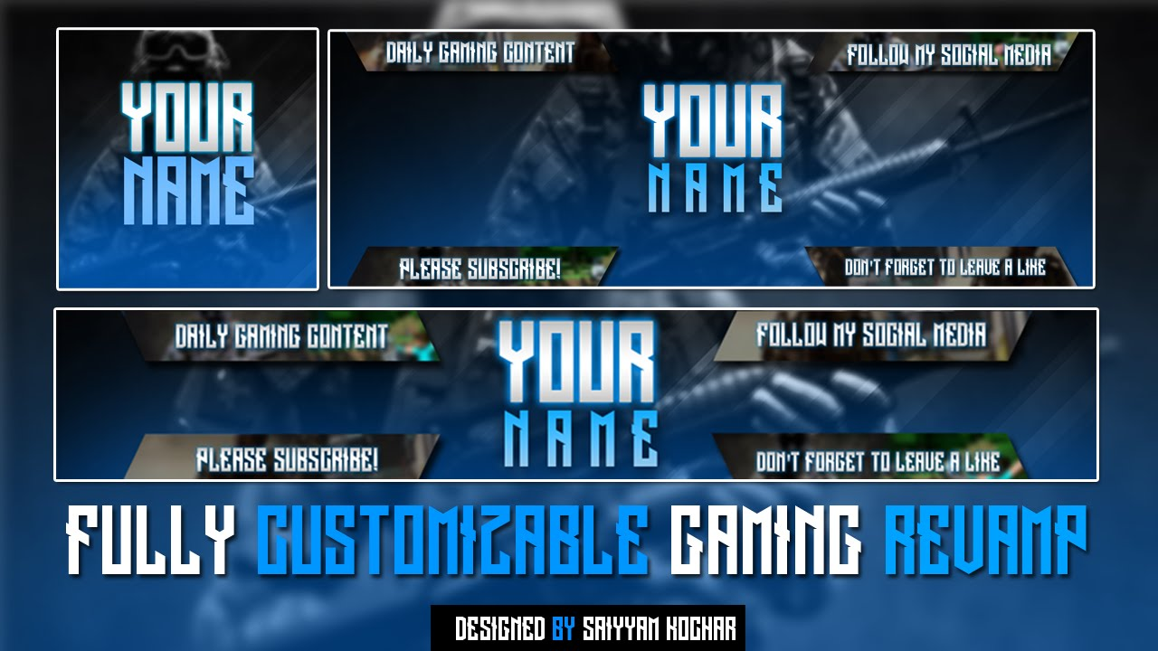 Template | FREE Gaming Rebrand V2 (Logo Template, Twitter Header ...