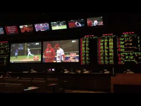Baseball Game in Race and Sportsbook Luxor Casino Las Vegas