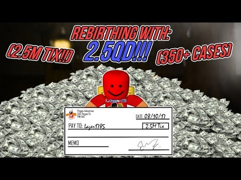 [Roblox] Case Clicker: REBIRTHING WITH 2.5QD!!! (2.5M TIX) (350+ CASES)