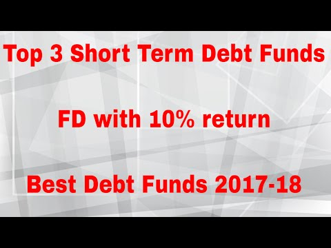 Top 3 Short Term Debt Funds 2017-18 | FD with 10% return | Best Debt Funds India